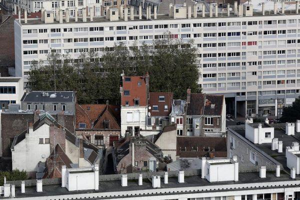 Logements HLM du quartier Saint-Sauveur à Lille (image d'illustration).