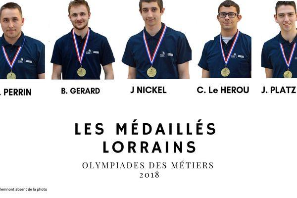 Olympiades des métiers 2018 : 23 médailles pour la région Grand Est dont 6 pour les lorrains.