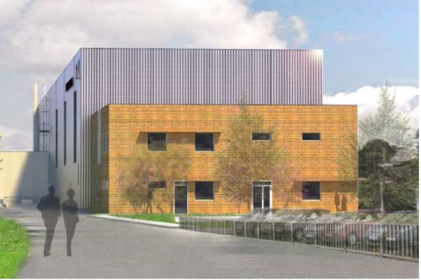 Nouvel atelier de maintenance inauguré par la SNCF et le région Basse-Normandie, ce mercredi 10 juin,  à Granville