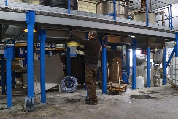 L'entreprise de Meaux où est fabriqué le gel hydroalcoolique.