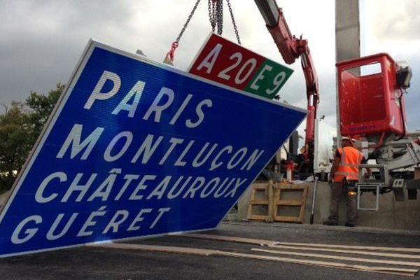 Installation des panneaux indicateurs