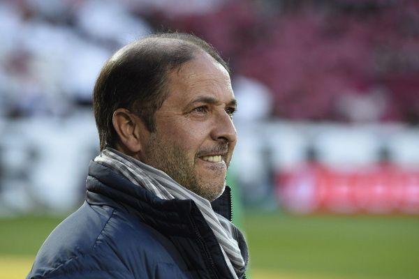 L'entraîneur Pablo Correa lors d'un match de Ligue 1 opposant Metz à Nancy, le 29 avril 2017