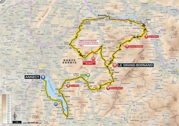 La carte de la 10e étape du Tour 2018