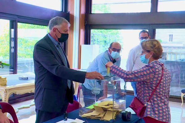 On votait à Cholet pour le premier tour de l'élection municipale après l'annulation par le Conseil d'État de celle de 2020