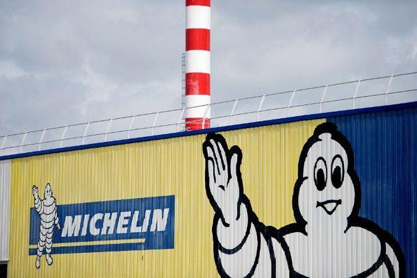 Une usine Michelin à La Roche-sur-Yon (France).