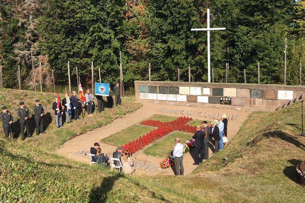 Cérémonie de commémoration de l'évacuation du camp de Natzweiler-Struthof