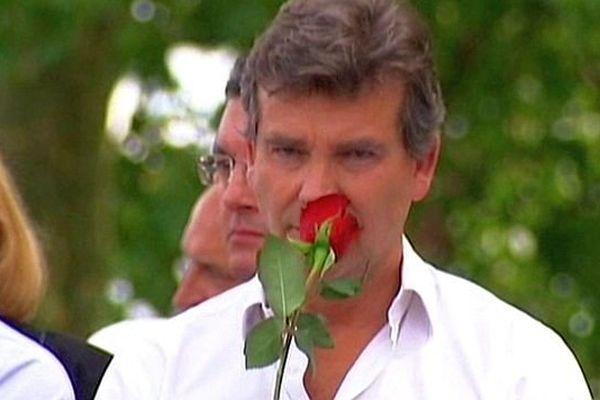 Arnaud Montebourg lors de la 42e édition de la Fête de la Rose, à Frangy-en-Bresse, en Saône-et-Loire.