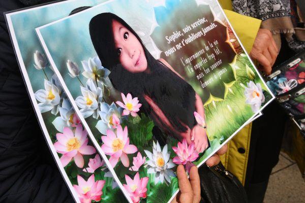 Photo de Sophie Le Tan lors de la marche silencieuse de la famille le 3 mars dernier