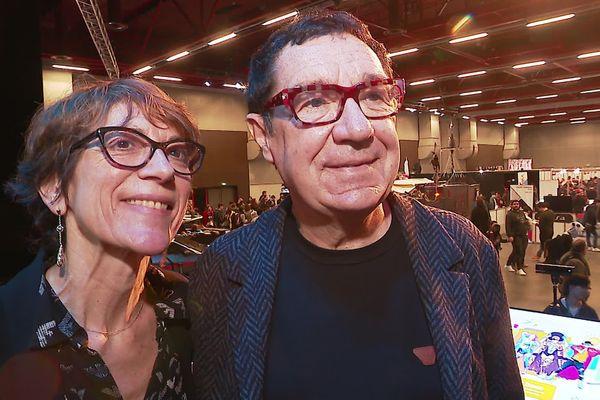 Philippe Peythieu et Véronique Augereau, les voix françaises d'Homer et Marge Simpson, invités d'honneur du 2e Geek Life festival du Mans.