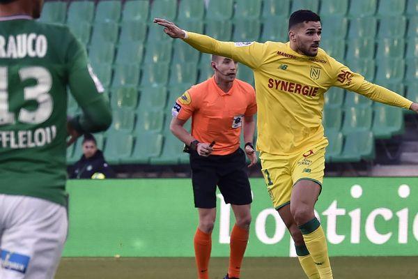 Mehdi Abeid célèbre son but contre l'AS Saint-Etienne le 12 janvier 2020
