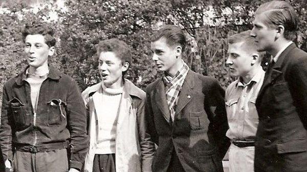 Pierre et Jean-Paul Lavoix, Reynold Lefevre, Christian et Guy Richard en 1941.