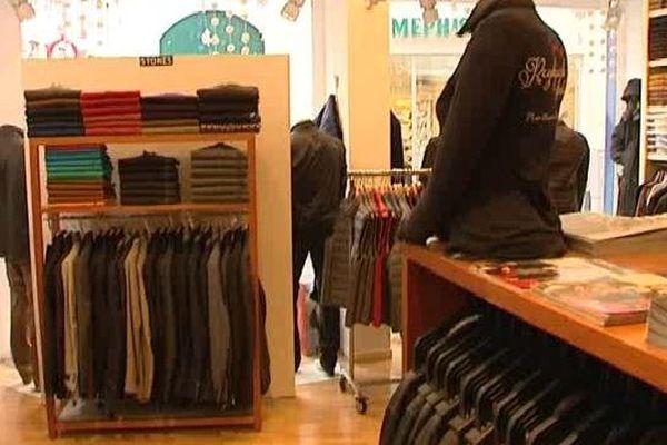 La fréquentation des boutiques du centre-ville a considérablement baissé en décembre