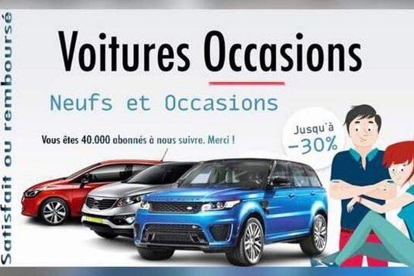 Des escrocs vendent des voitures sur internet et sollicitent par virement le versement d'un acompte et conversent uniquement via messenger. Les véhicules ne sont jamais livrés.