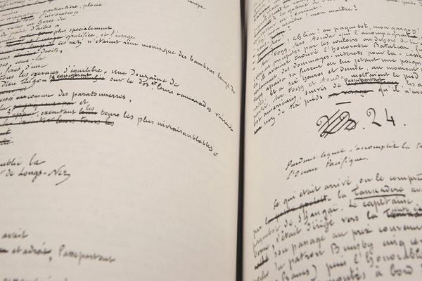 """Extrait du manuscrit """"Le Tour du Monde en 80 jours"""" de Jules Verne, aux éditions Saint Pères"""