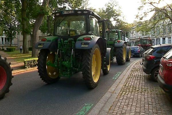 Manifestation d'agriculteurs, mardi 2 juillet à Arras.