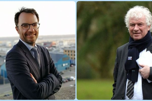 Thierry Fayret et François Cuillandre, les deux candidats à l'investiture PS aux élections municipales de Brest