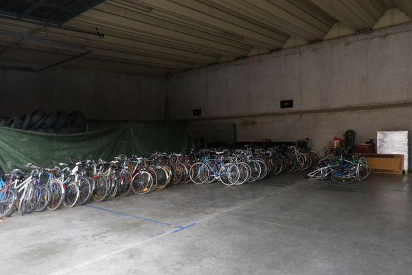 Plus d'une centaine de vélos ont été découvert lors d'une perquisition à Colmar.