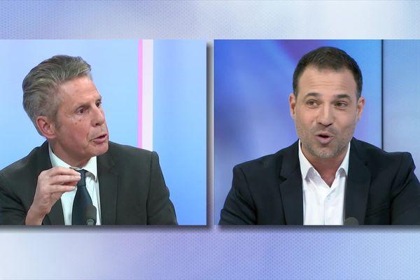 Echanges fermes entre Alain Suguenot et Mario Barravecchia, deux candidats à la mairie de Beaune