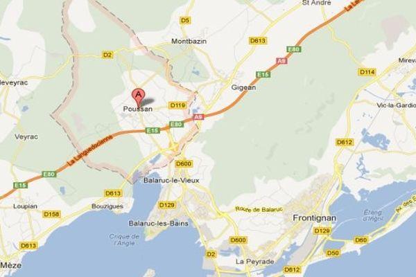 Google map - Poussan (Hérault)