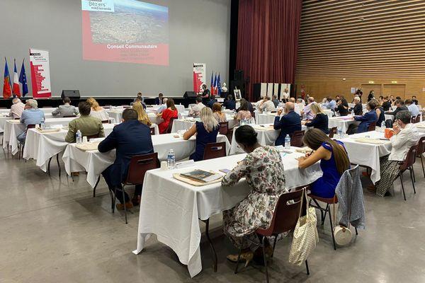 Béziers (Hérault) -assemblée de l'agglomération avant le vote pour la présidence - 16 juillet 2020.
