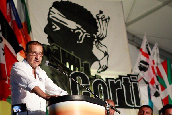 ILLUSTRATION - Jean-Guy Talamoni, chef de file de Corsica Libera.