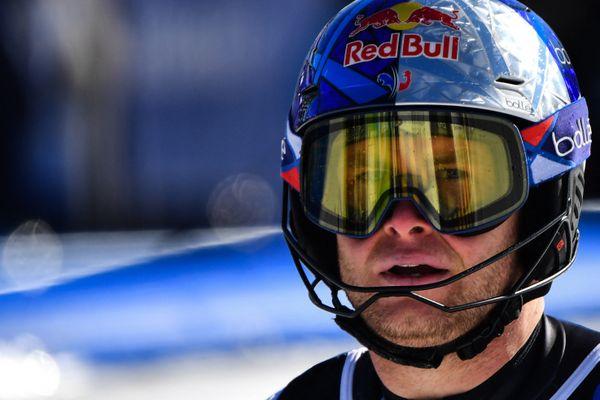 Alexis Pinturault lors de la Coupe du monde de ski alpin à Cortina d'Ampezzo (Italie) le 21 février 2021.