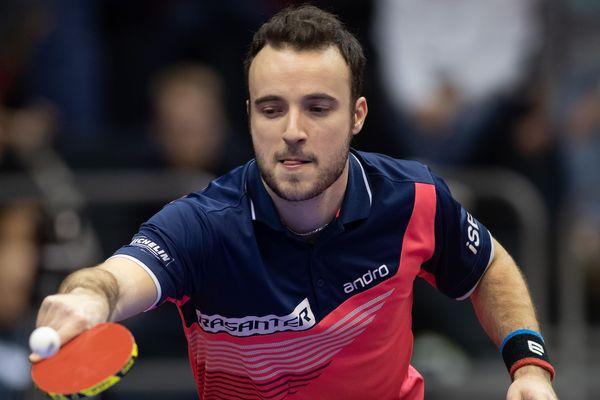 Simon Gauzy en compétition le 20 janvier 2020