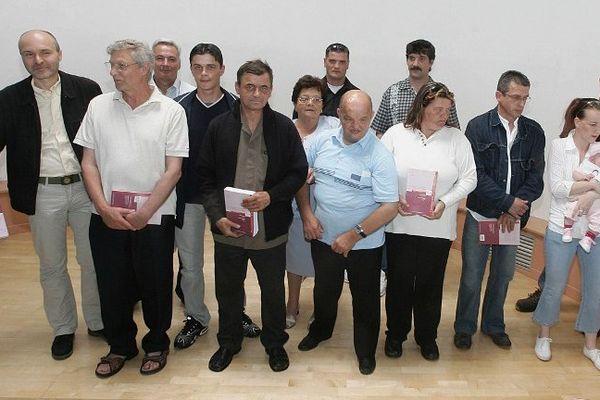 Les acquittés d'Outreau en 2006.