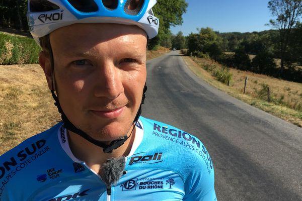 Mickaël Guichard s'entraîne beaucoup sur les routes corréziennes