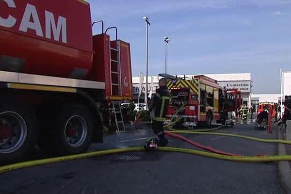 Incendie garage Renault Montpellier