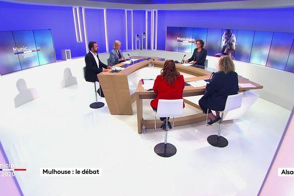 Les quatre candidats mulhousiens en lice pour le second tour des élections municipales ont débattu ce lundi 15 juin sur France 3 Alsace