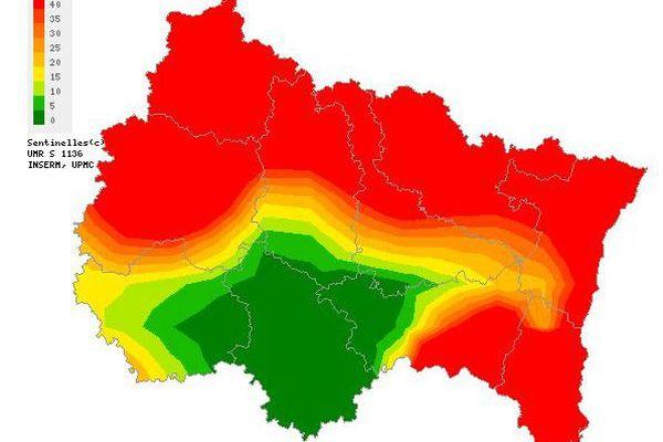 Le Grand Est est touché par une épidémie de varicelle, l'agence Sentinelle alerte. (Capture d'écran du site Sentinelle)