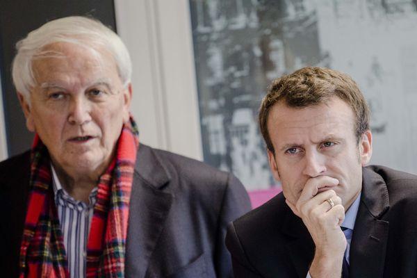 JC Boulard et Emmanuel Macron, le 11 octobre 2016 au Mans