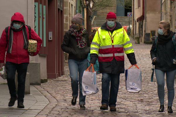 Distribution dans les quartiers de Rennes