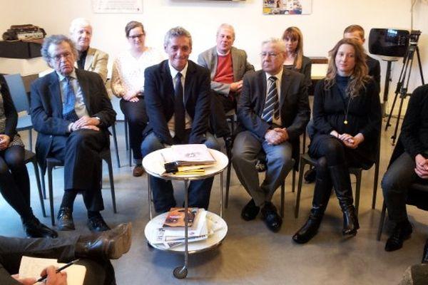 Montpellier - Alain Saurel, candidat à la mairie de Montpellier, en conférence de presse - février 2014.