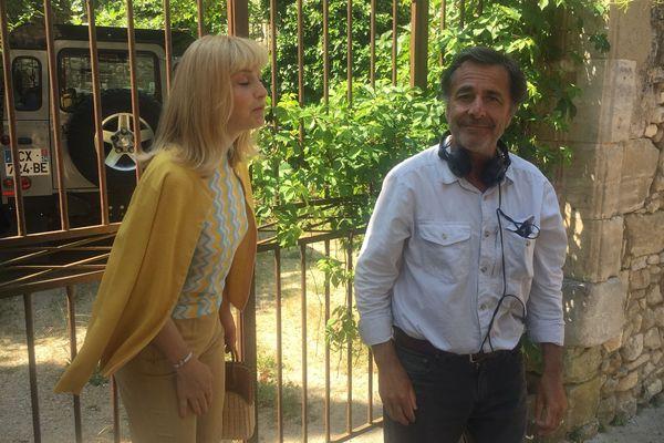 Nicolas Vanier et Julie Gayet sur le tournage du film, Mon ami Poly - juin 2019