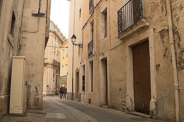 Béziers (Hérault) - le centre-ville ancien - janvier 2019.