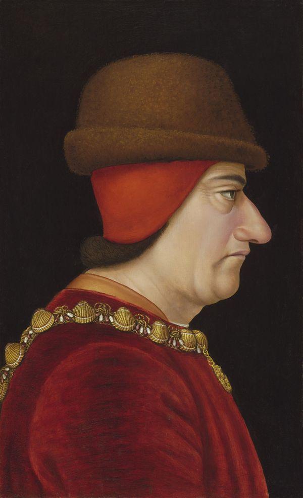Portrait de Louis XI, peint vers 1469 par Jacob de Littemont.