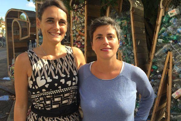 """Les deux représentantes du collectif """"cantine sans plastique"""" présentes au festival Climax pour intervenir sur le plastique dans les cantines."""