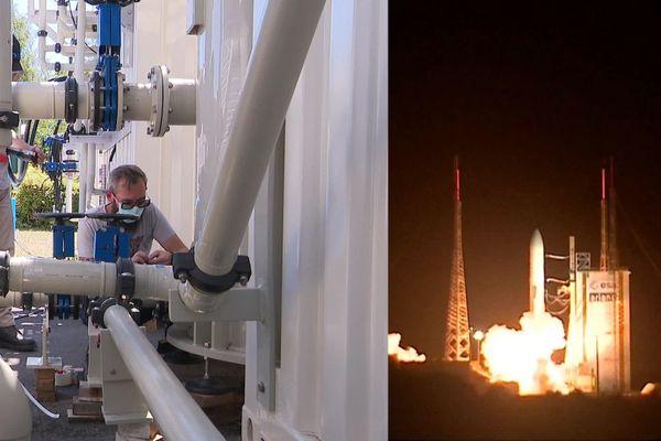 Douai : une entreprise fabrique la station d'épuration indispensable au lancement de la fusée Ariane 6.