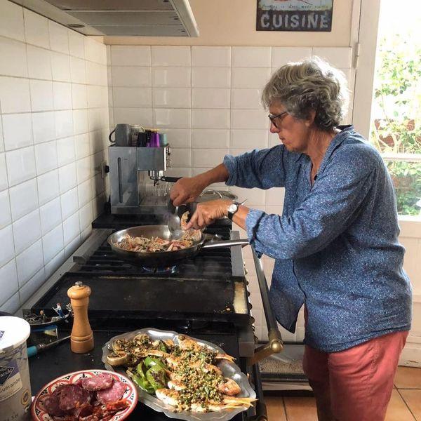 Colette Poisson dans sa cuisine à Arcachon, août 2020.