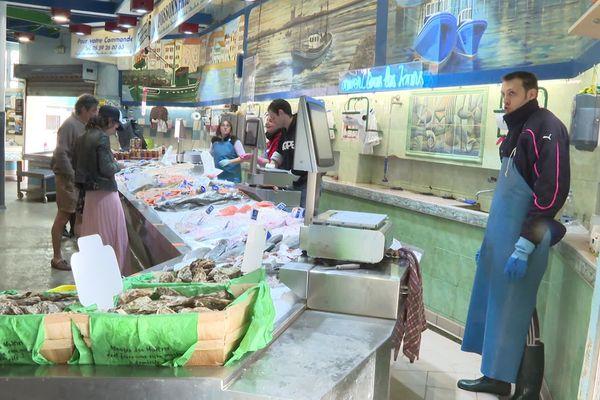 Le marché de St-Jean de Luz. Mars 2020 -