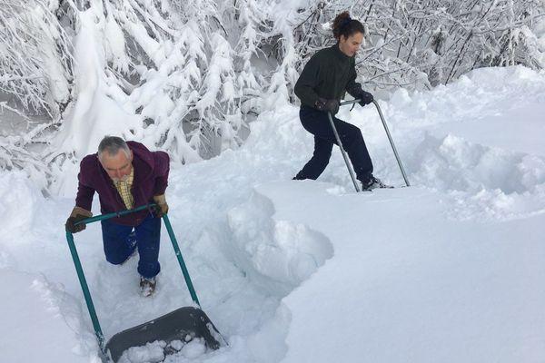 À la forêt du Massacre, la neige a atteint 1,75 mètre de hauteur