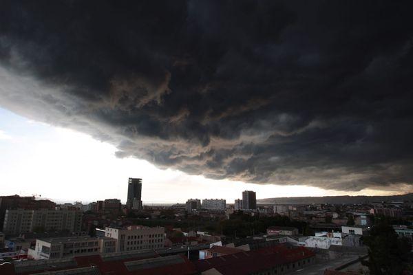 Un orage au dessus de Marseille en 2009