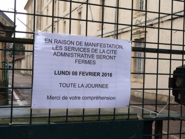 La cité administrative de Nancy provisoirement fermée.