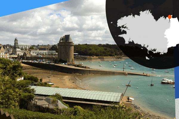 La tour Solidor surplombe le port de Saint-Servan