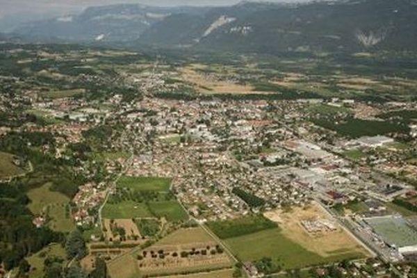 Vue aérienne de Saint-Marcellin