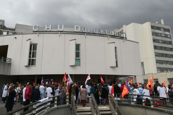 Manifestation du personnel hospitalier du CHU de Limoges, le 17 décembre 2019