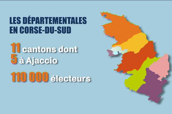 Les cantons de Corse-du-Sud.