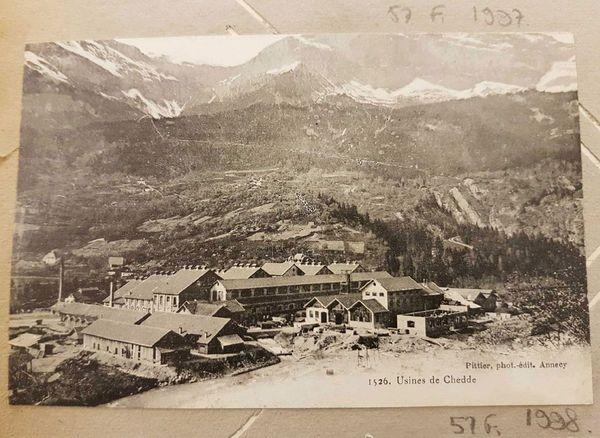 """L'usine chimique de Chedde où était fabriqué la """"Cheddite"""", un redoutable gaz fabriqué au pied du Mont-Blanc"""